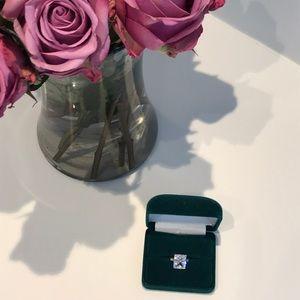 Princess Grace Collection Faux Diamond Ring